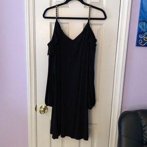 Michael Kors cold shoulder shift dress